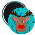 Reindeer on Aged Teal Magnets