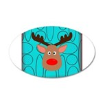 Reindeer on Aged Teal Wall Decal