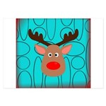 Reindeer on Aged Teal Invitations
