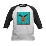 Reindeer on Aged Teal Baseball Jersey