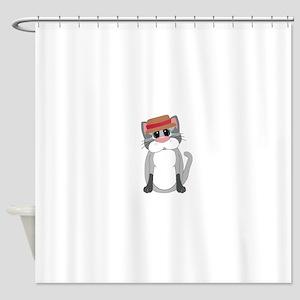 Cat In A Hat Shower Curtain