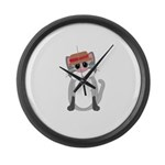 Cat in a Hat Large Wall Clock