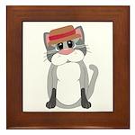 Cat in a Hat Framed Tile