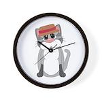 Cat in a Hat Wall Clock