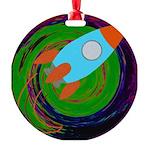 Rocket Green Ornament