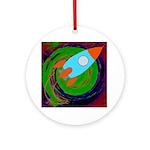 Rocket Green Ornament (Round)