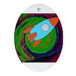 Rocket Green Ornament (Oval)