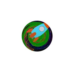Rocket Green Mini Button (100 pack)