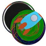 Rocket Green Magnets