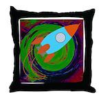 Rocket Green Throw Pillow