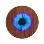 Blue Flower on Wood 3.5