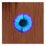 Blue Flower on Wood Invitations