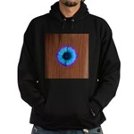 Blue Flower on Wood Hoodie