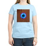Blue Flower on Wood T-Shirt