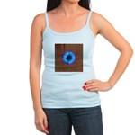 Blue Flower on Wood Tank Top
