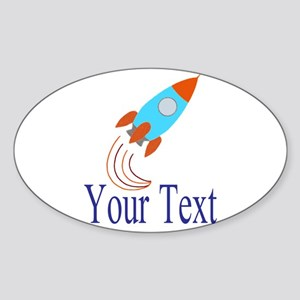 Rocket Ship Personalizable Sticker