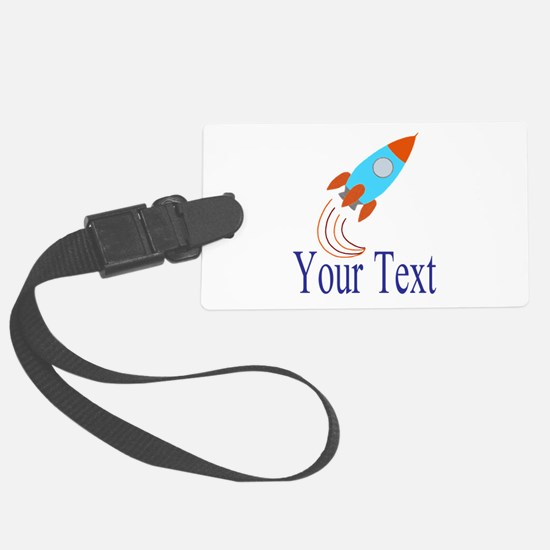 Rocket Ship Personalizable Luggage Tag