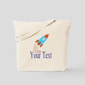 Rocket Ship Personalizable Tote Bag