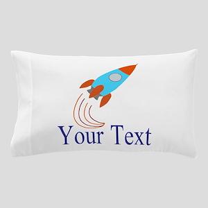Rocket Ship Personalizable Pillow Case