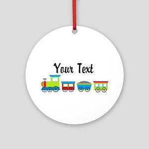 Personalizable Choo Choo Train Ornament (Round)