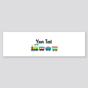Personalizable Choo Choo Train Bumper Sticker