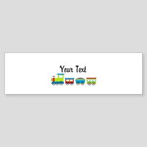 Personalizable Choo Choo Train Bumper Sticker