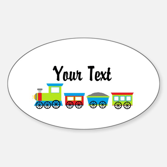 Personalizable Choo Choo Train Decal