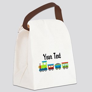 Personalizable Choo Choo Train Canvas Lunch Bag