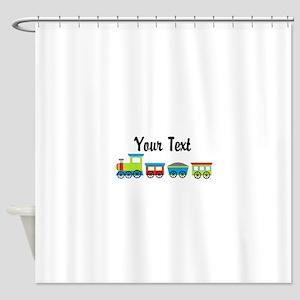 Personalizable Choo Choo Train Shower Curtain