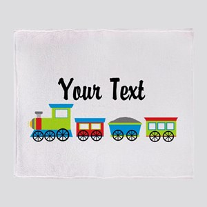 Personalizable Choo Choo Train Throw Blanket