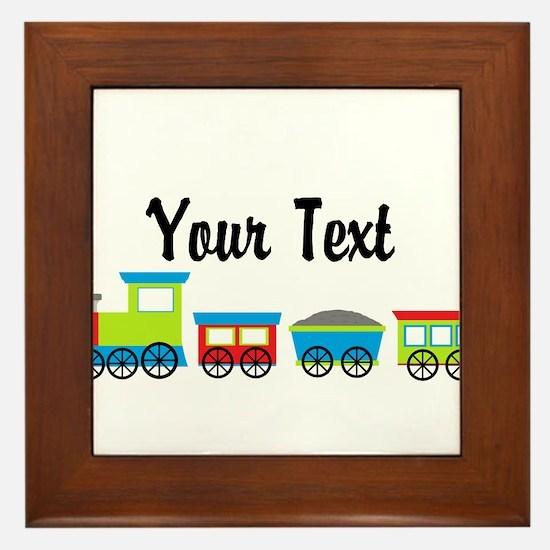 Personalizable Choo Choo Train Framed Tile