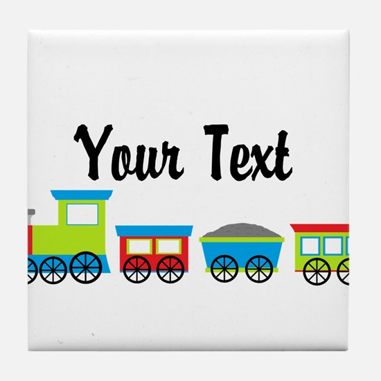 Personalizable Choo Choo Train Tile Coaster