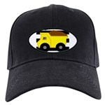 Dump Truck Black and White Baseball Hat