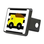 Dump Truck Black and White Hitch Cover