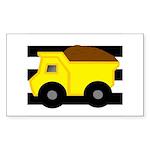 Dump Truck Black and White Sticker