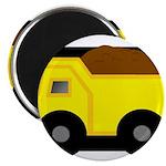 Dump Truck Black and White Magnets