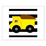 Dump Truck Black and White Posters