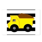 Dump Truck Black and White Postcards (Package of 8