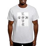 LOVE GOD -CROSS- CHRISTIAN Ash Grey T-Shirt