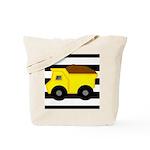 Dump Truck Black and White Tote Bag