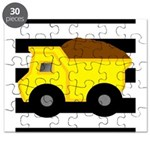 Dump Truck Black and White Puzzle