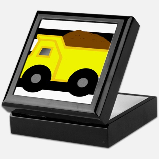 Dump Truck Black and White Keepsake Box