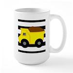 Dump Truck Black and White Mugs