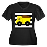 Dump Truck Black and White Plus Size T-Shirt