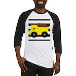 Dump Truck Black and White Baseball Jersey