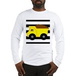 Dump Truck Black and White Long Sleeve T-Shirt