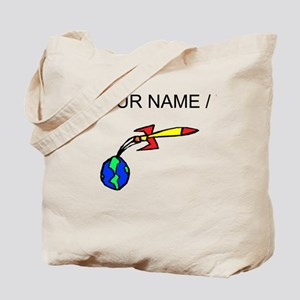 Rocket Leaving Earth (Custom) Tote Bag