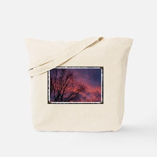 Skies on Fire Tote Bag