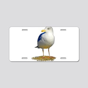 Sea Gull Has His Eye on You Aluminum License Plate