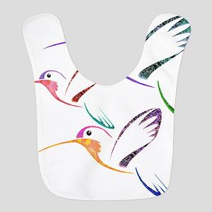 Patchwork Trio of Hummingbirds Bib